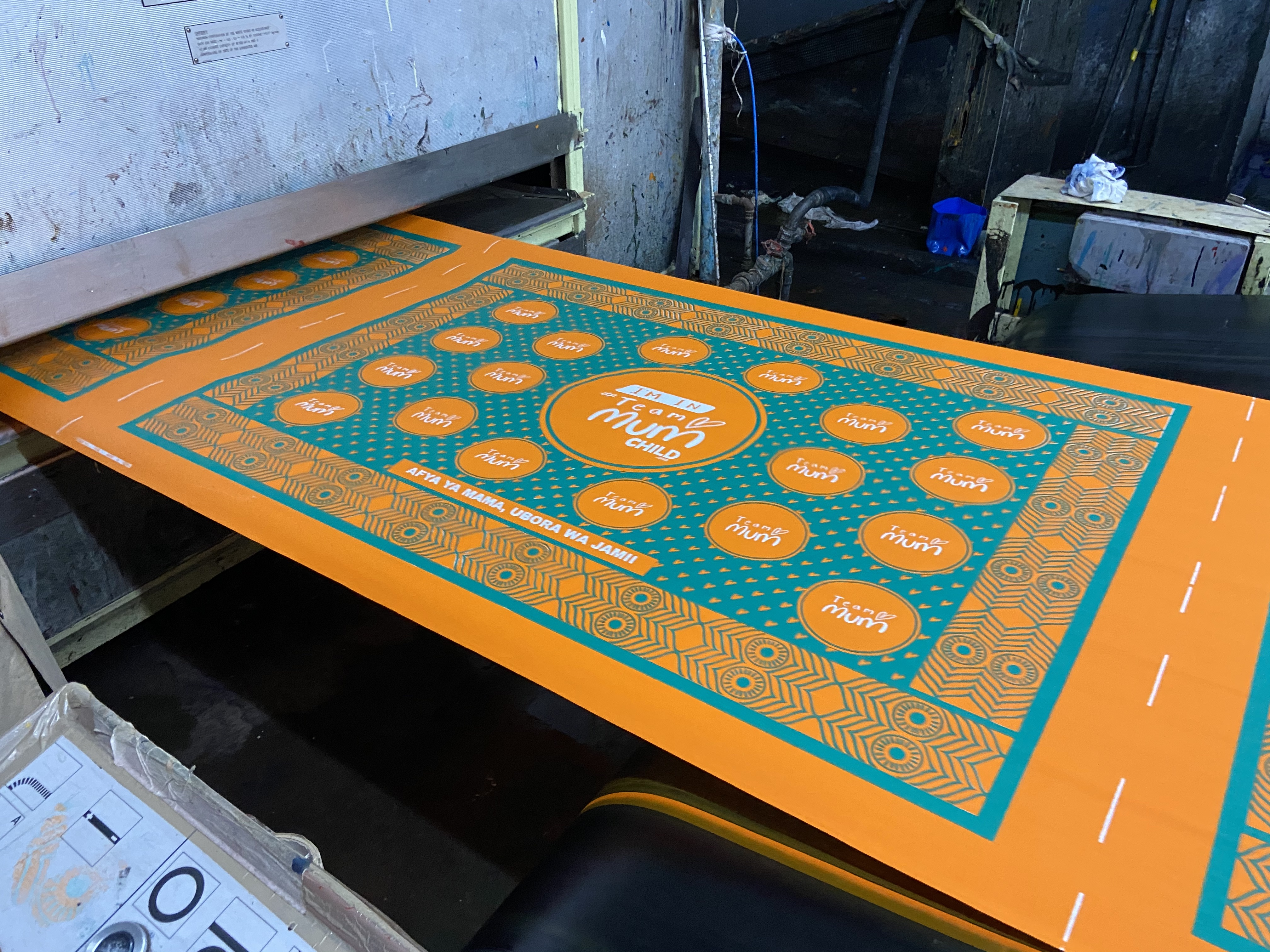 he fabric is taken through a process known as curing which involves fixing the fabric colour